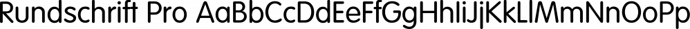 Rundschrift Pro font family by FontSite Inc.