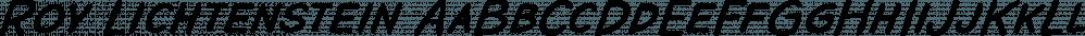 Roy Lichtenstein font family by K-Type