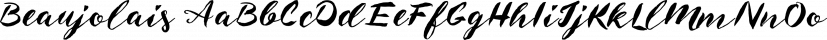 Beaujolais font family by Fenotype