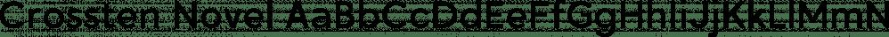 Crossten Novel font family by Fontmachine