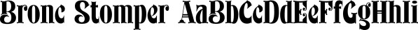 Bronc Stomper font family by FontMesa
