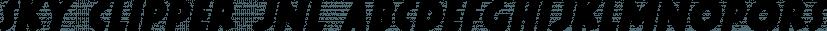 Sky Clipper JNL font family by Jeff Levine Fonts