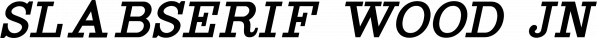 Slabserif Wood JNL font family by Jeff Levine Fonts