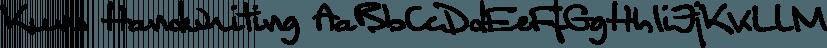 Kuno Handwriting font family by SoftMaker