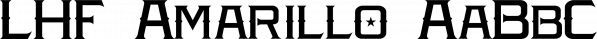 LHF Amarillo font family by Letterhead Fonts