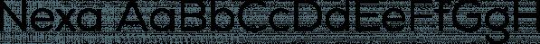 Nexa font family by Fontfabric