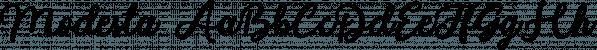 Modesta font family by Letterhend Studio
