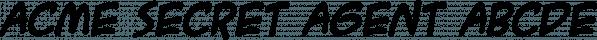 ACME Secret Agent font family by Blambot