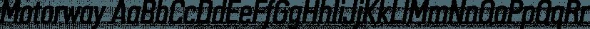 Motorway font family by K-Type