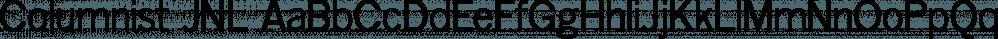 Columnist JNL font family by Jeff Levine Fonts