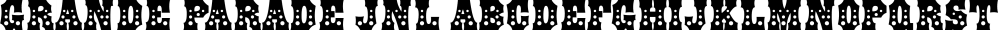 Grande Parade JNL font family by Jeff Levine Fonts