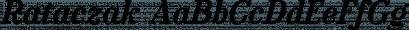 Rataczak font family by Ingrimayne Type