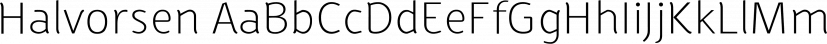 Halvorsen font family by Australian Type Foundry
