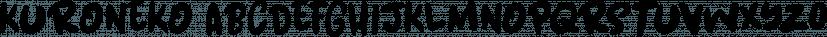 Kuroneko font family by Hanoded