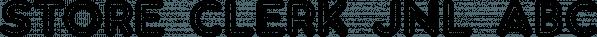 Store Clerk JNL font family by Jeff Levine Fonts