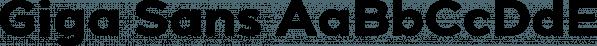Giga Sans font family by Locomotype