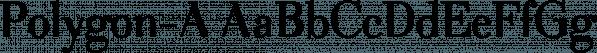 Polygon-A font family by Wiescher-Design