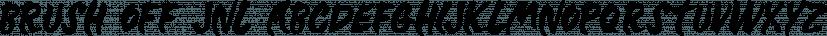Brush Off JNL font family by Jeff Levine Fonts