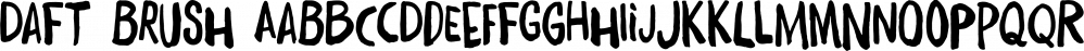 Daft Brush font family by PintassilgoPrints