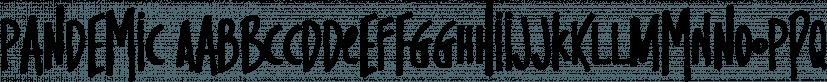 Pandemic font family by Tugcu Design Co
