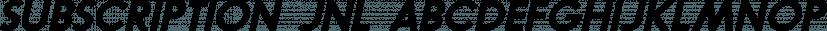 Subscription JNL font family by Jeff Levine Fonts