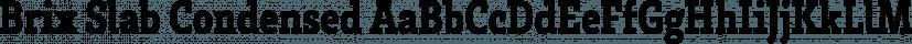Brix Slab Condensed font family by HVD Fonts