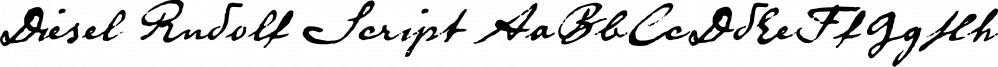 Diesel Rudolf Script font family by ingoFonts