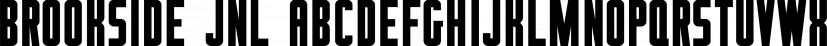 Brookside JNL font family by Jeff Levine Fonts