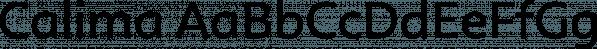 Calima font family by JCfonts