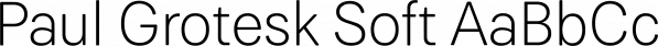 Paul Grotesk Soft font family by Artill Typs