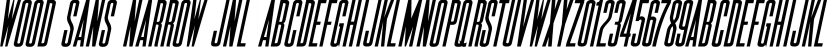 Wood Sans Narrow JNL font family by Jeff Levine Fonts