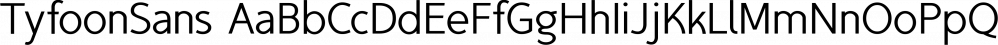 TyfoonSans font family by Fontforecast