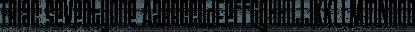Triac 71 font family by Typodermic Fonts Inc.