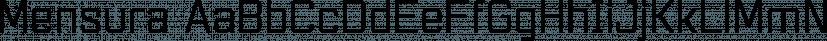 Mensura font family by Graviton