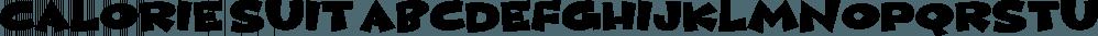 Calorie Suit font family by Pizzadude.dk