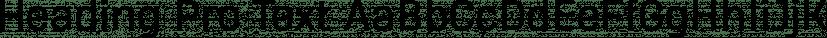 Heading Pro Text font family by Zetafonts