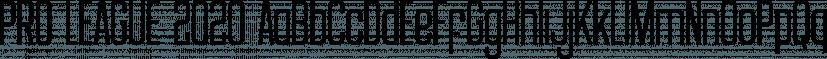 PRO LEAGUE 2020 font family by Jonathan Swinn