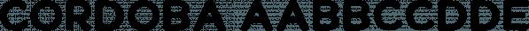 Cordoba font family by Letterhend Studio
