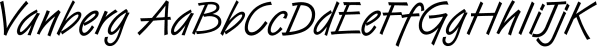 Vanberg font family by FontSite Inc.