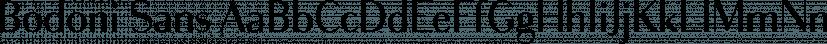 Bodoni Sans font family by Jason Vandenberg