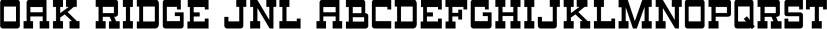 Oak Ridge JNL font family by Jeff Levine Fonts