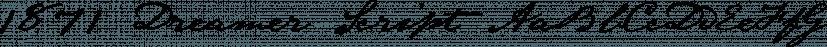 1871 Dreamer Script font family by GLC Foundry