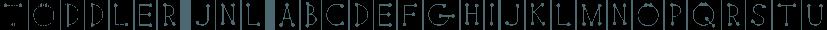 Toddler JNL font family by Jeff Levine Fonts