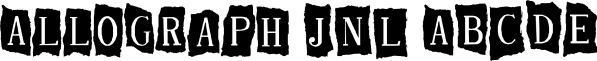Allograph JNL font family by Jeff Levine Fonts