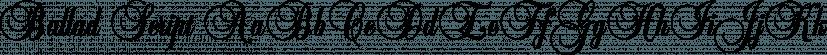 Ballad Script font family by FontSite Inc.
