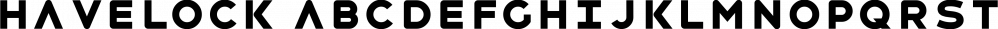 Havelock font family by XO