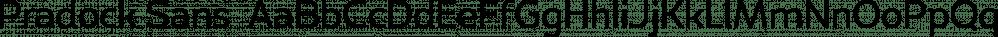 Pradock Sans  font family by Genesislab