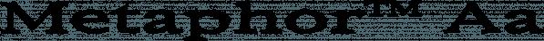 Metaphor™ font family by MINDCANDY