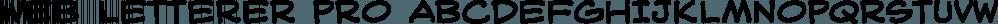 Web Letterer Pro font family by Blambot