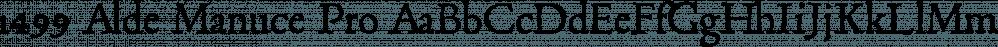 1499 Alde Manuce Pro font family by GLC Foundry